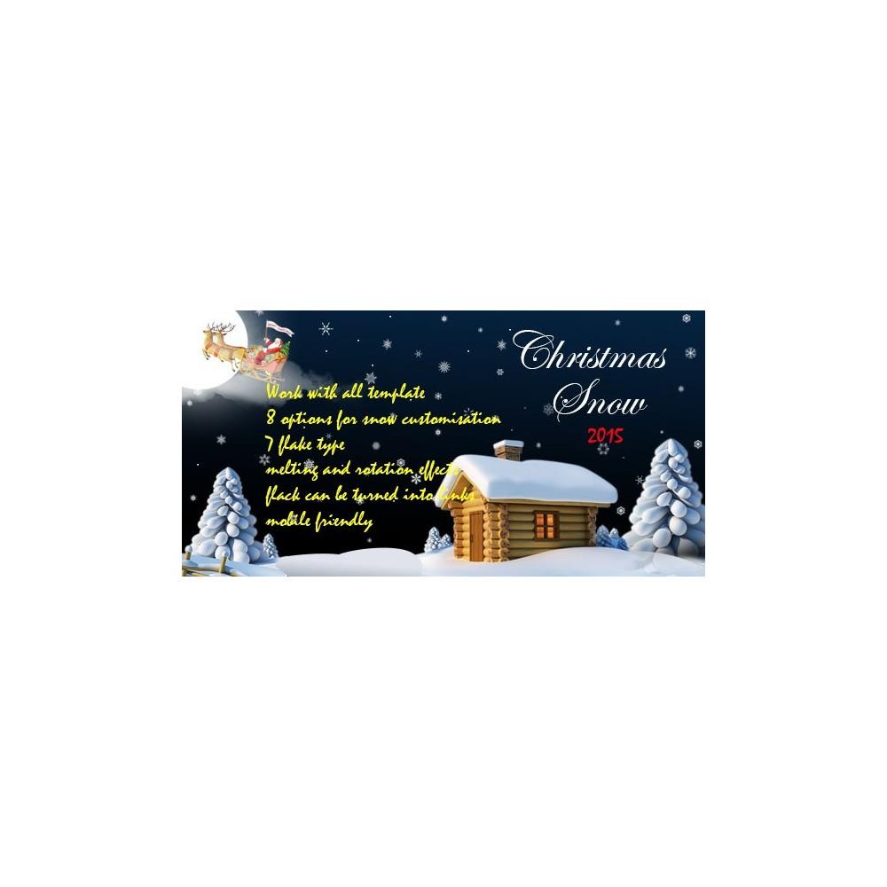 module - Personalizacja strony - Snow Christmas - 1