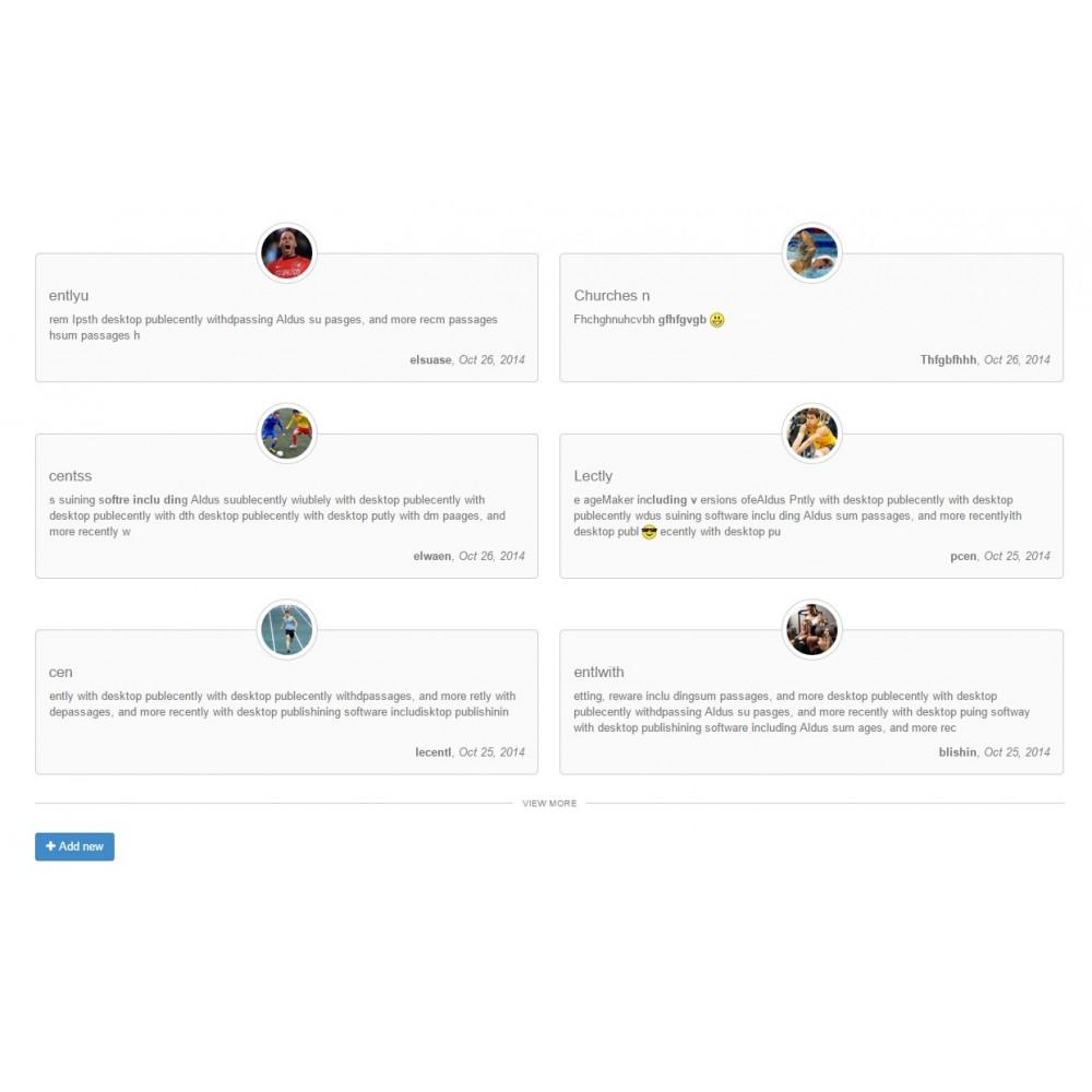 module - Opiniões de clientes - Testimonials with avatars - 8