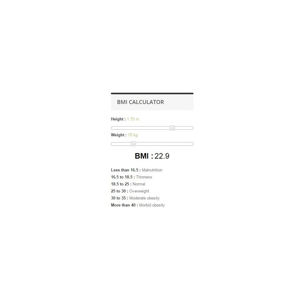 module - Tailles & Dimensions - Calculatrice IMC - 2