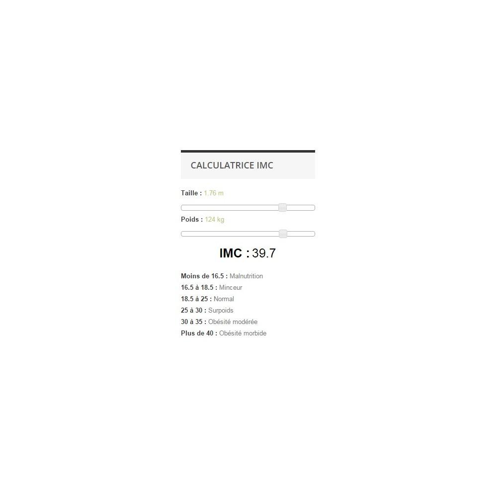 module - Tailles & Dimensions - Calculatrice IMC - 3