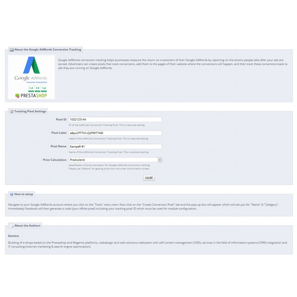 module - Analytics & Statistiche - Google AdWords Conversion Measurement (Tracking Pixel) - 2