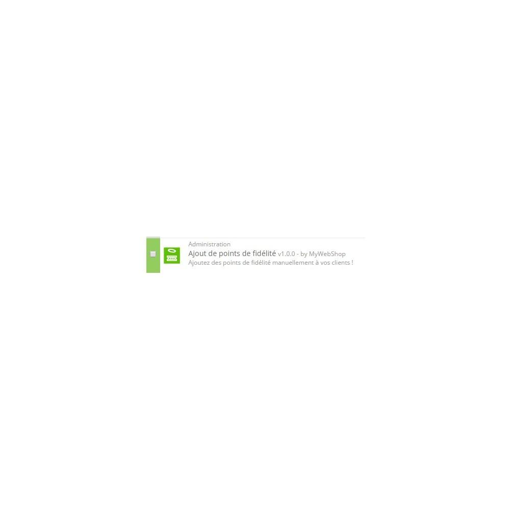 module - Fidélisation & Parrainage - Ajout manuel de points de fidélité - 1