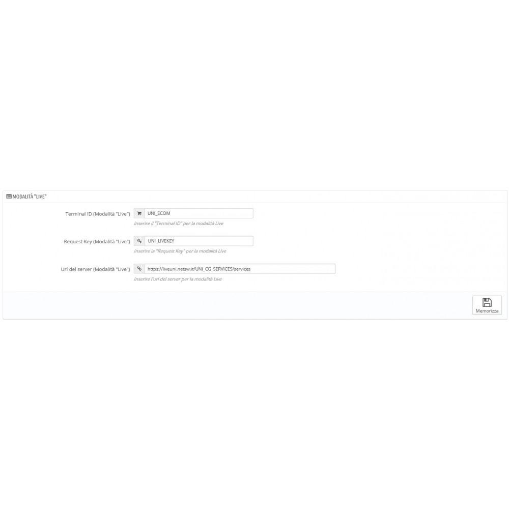 module - Creditcardbetaling of Walletbetaling - Unicredit PagOnline Imprese - 10