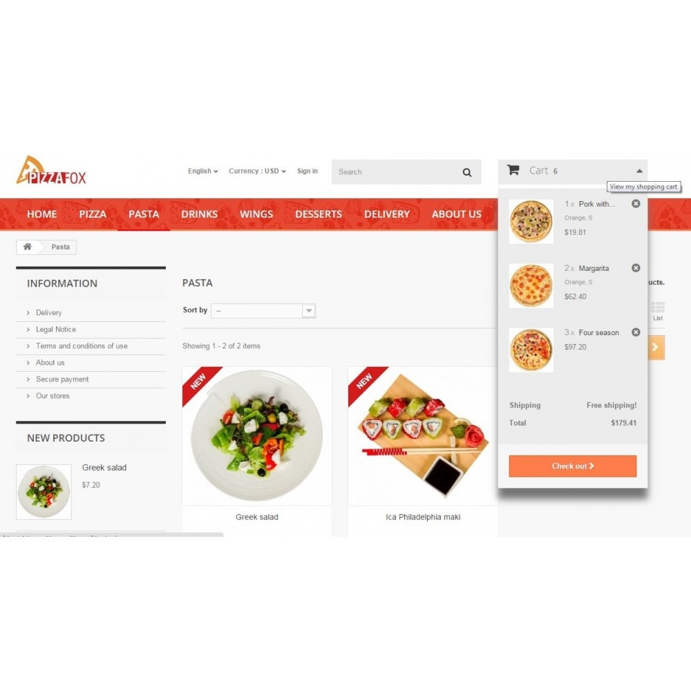 theme - Food & Restaurant - Pizza Fox Prestashop 1.6 Responsive Template - 6