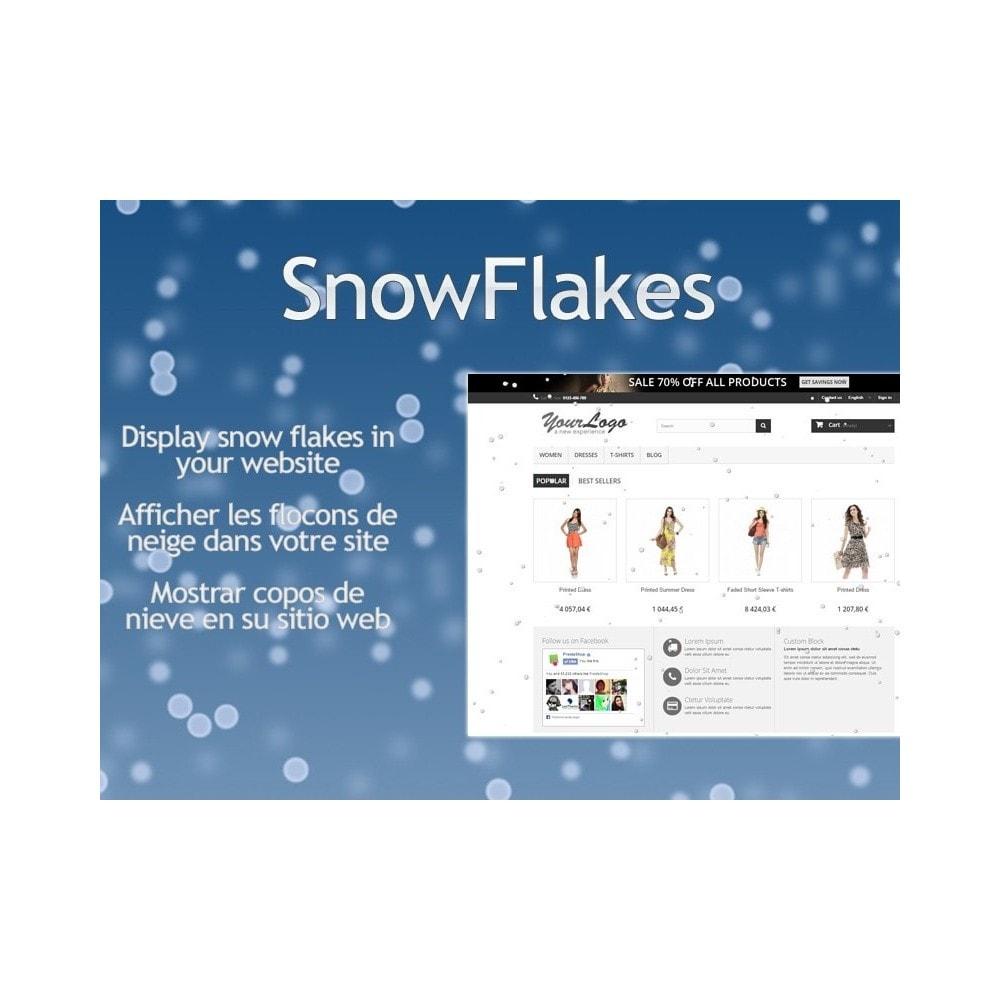module - Personalización de la página - Snow Flakes / Lluvia de nieve - 1