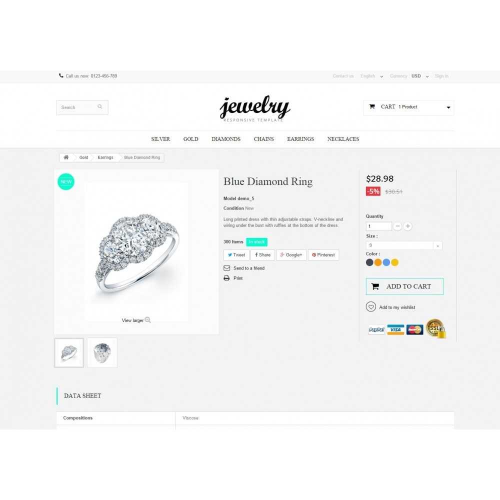 theme - Jewelry & Accessories - Jewelry Prestashop 1.6 Responsive - 8