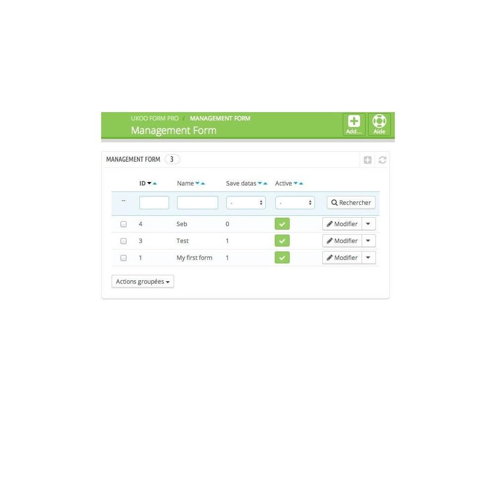 module - Formulaires de Contact & Sondages - Création de multiples formulaires personnalisés - 2