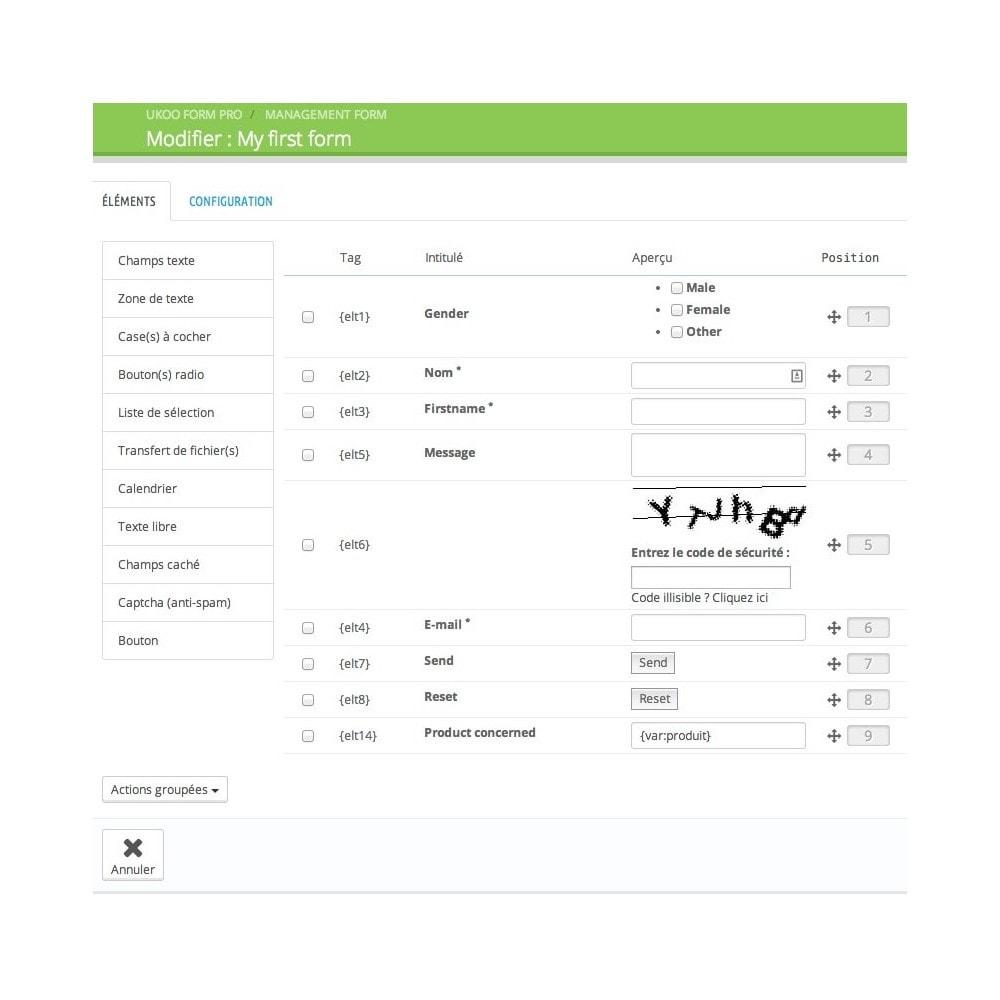 module - Formulaires de Contact & Sondages - Création de multiples formulaires personnalisés - 4