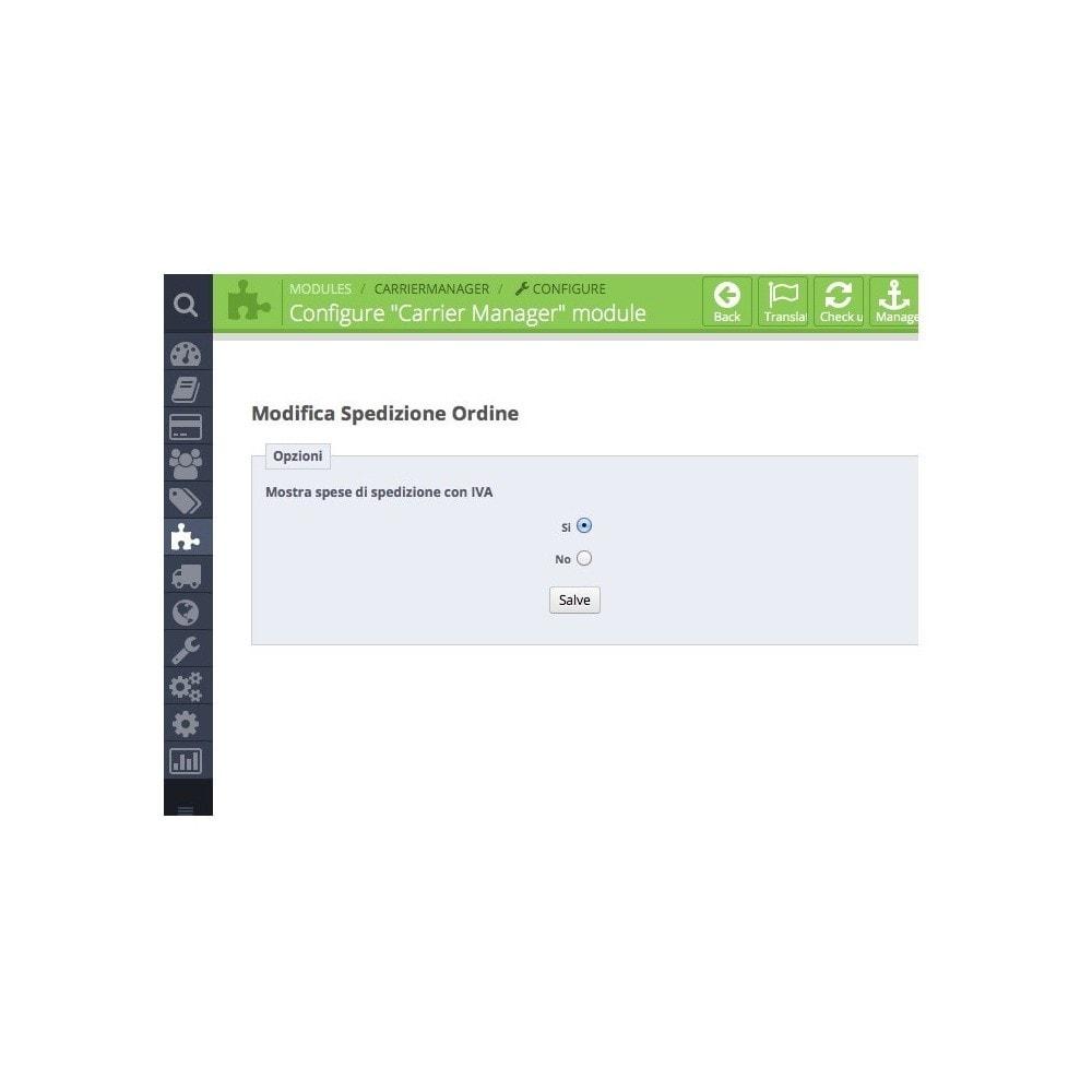 module - Transporteurs - Carrier Manager / Modifier le Transporteur - 6