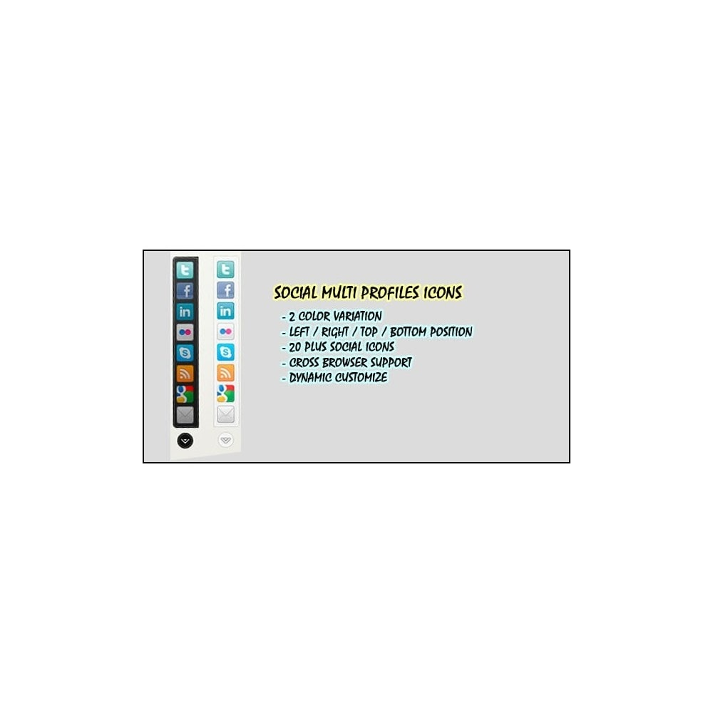 module - Widgety serwisów społecznościowych - Social Multi Profile - 2