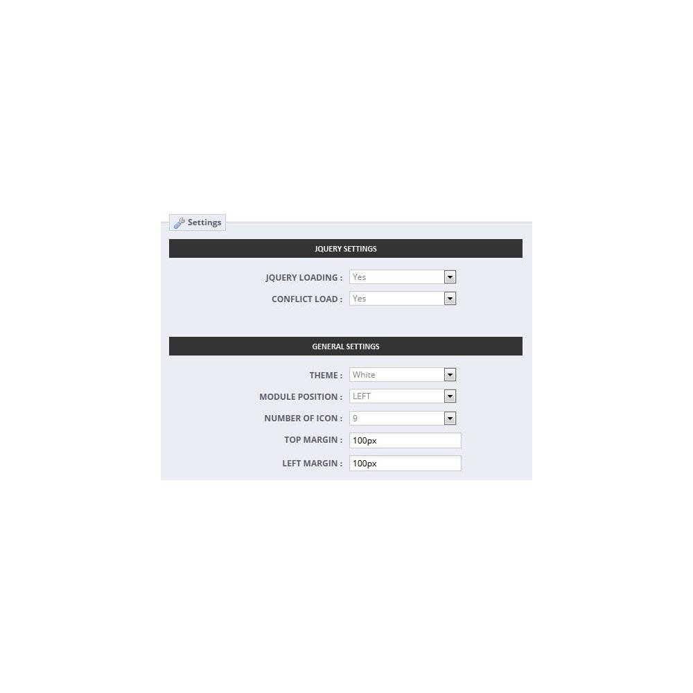 module - Sociale Widgets - Social Multi Profile - 4