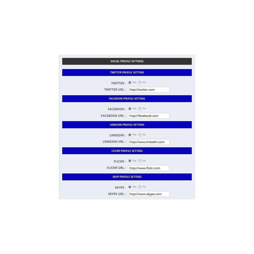 module - Widgety serwisów społecznościowych - Social Multi Profile - 5
