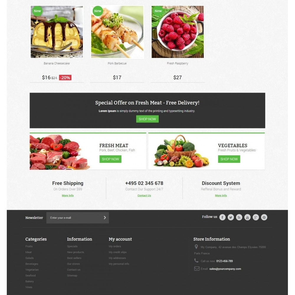 theme - Lebensmittel & Restaurants - Food Store Prestashop 1.6 Responsive - 4