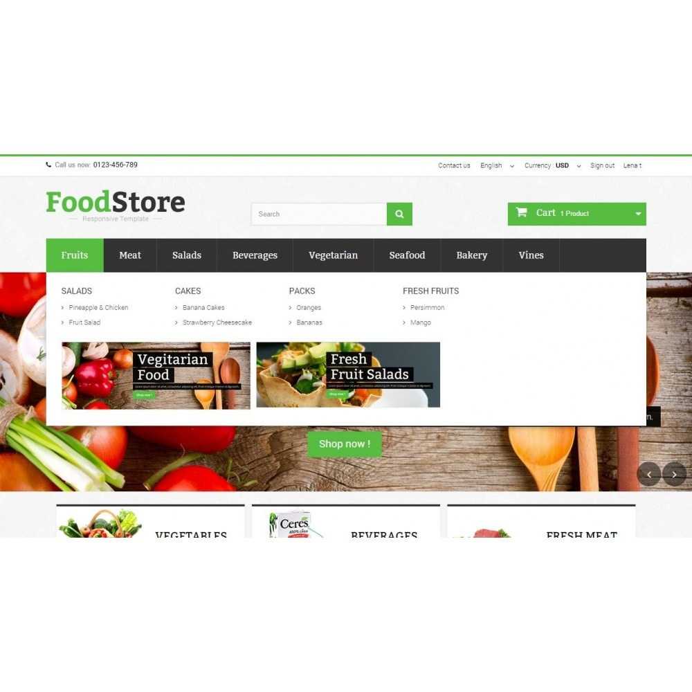 theme - Alimentation & Restauration - Food Store Prestashop 1.6 Responsive - 5