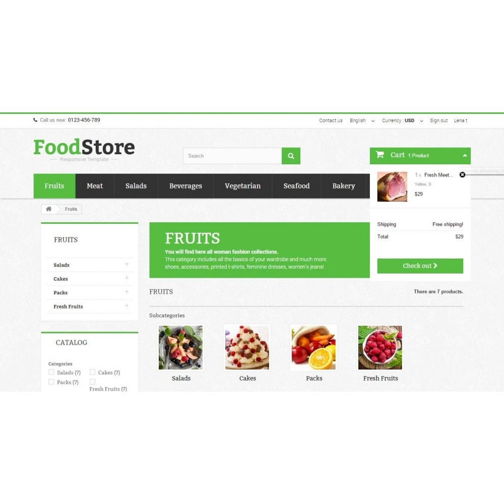 theme - Lebensmittel & Restaurants - Food Store Prestashop 1.6 Responsive - 6