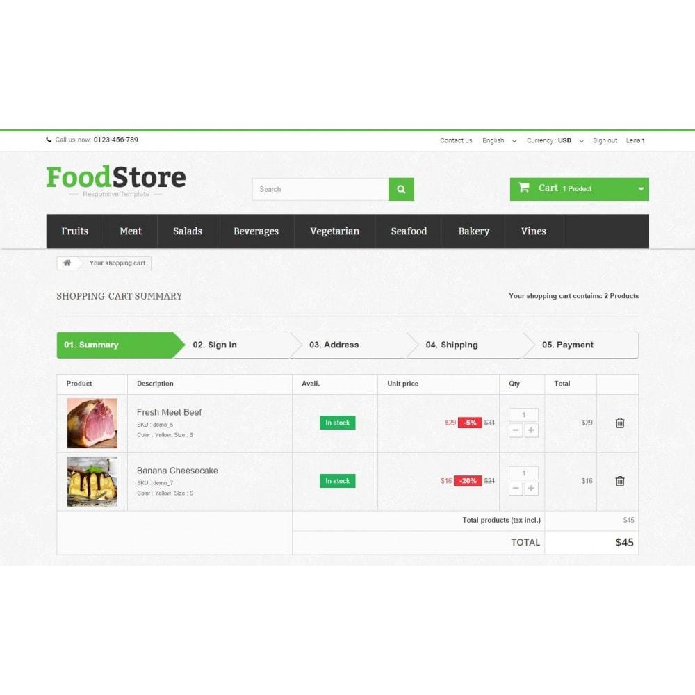 theme - Продовольствие и рестораны - Food Store Prestashop 1.6 Responsive - 9