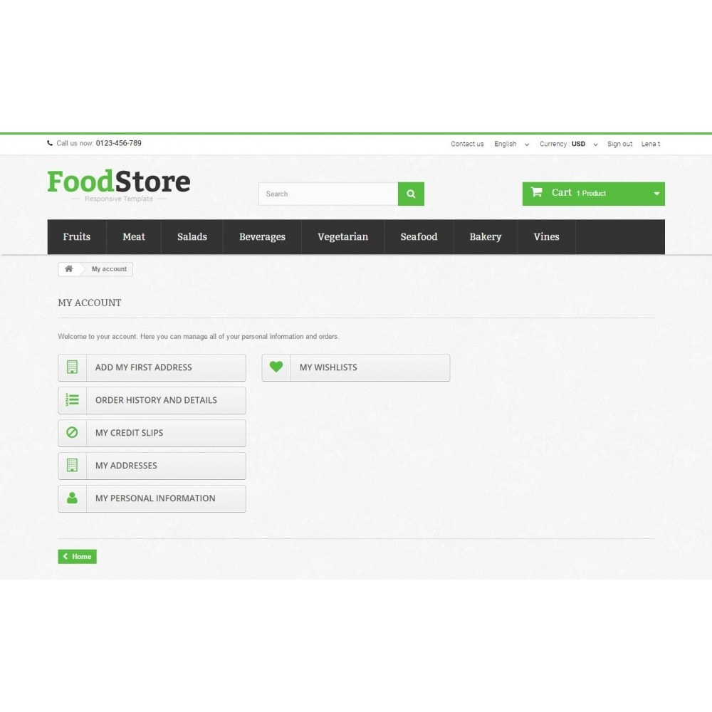 theme - Lebensmittel & Restaurants - Food Store Prestashop 1.6 Responsive - 10