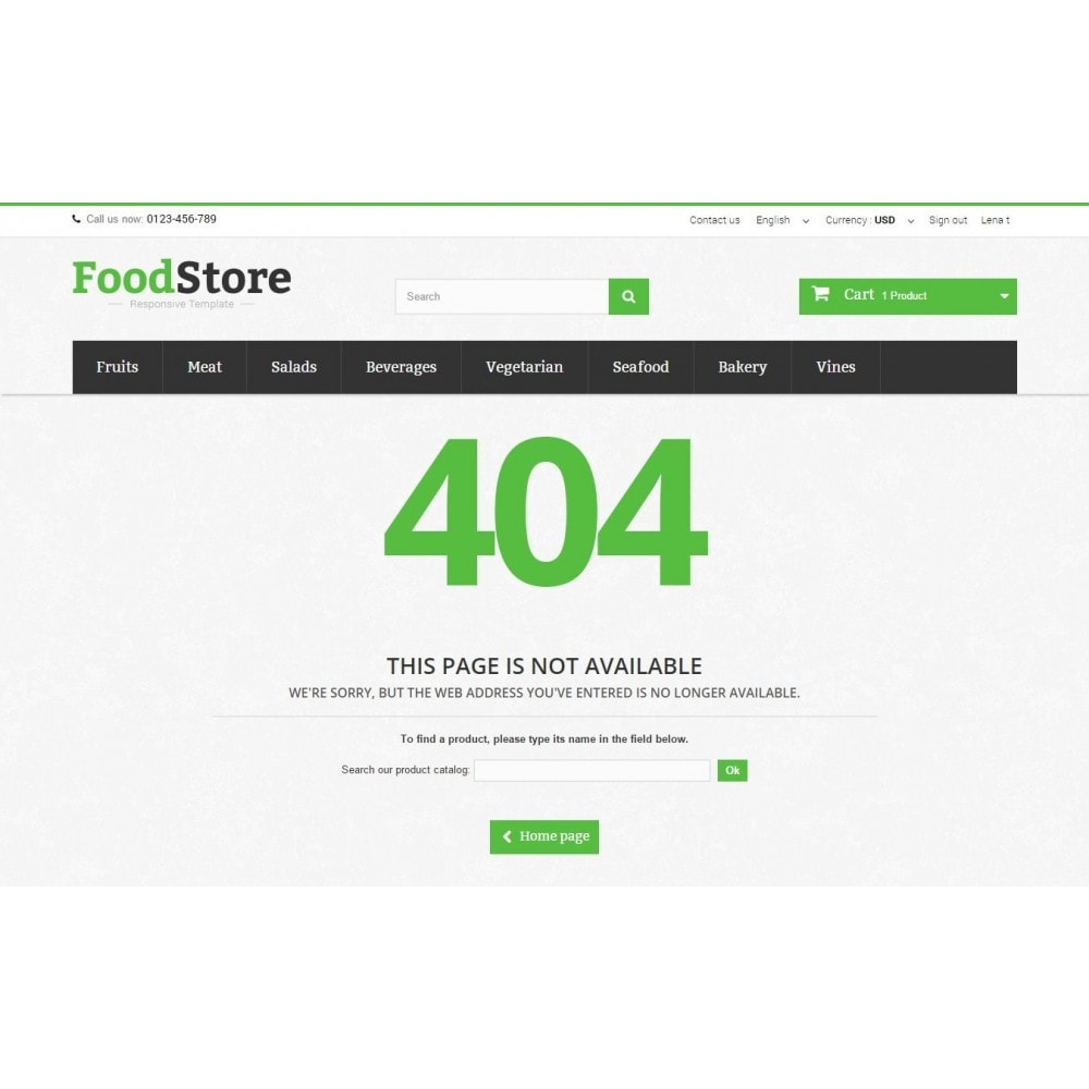 theme - Lebensmittel & Restaurants - Food Store Prestashop 1.6 Responsive - 11