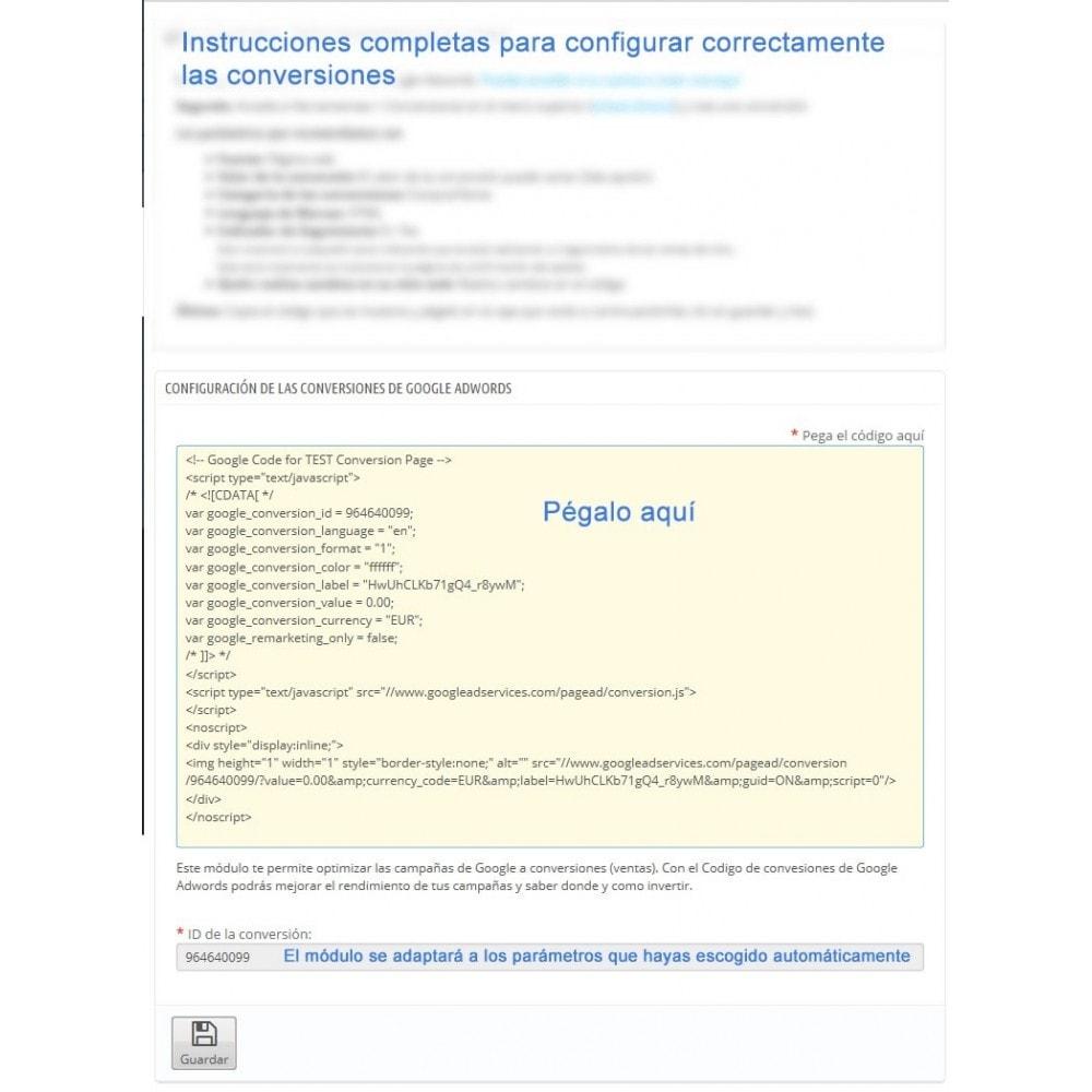 module - Remarketing y Carritos abandonados - Módulo Conversiones para Google Adwords - Smart Modules - 4