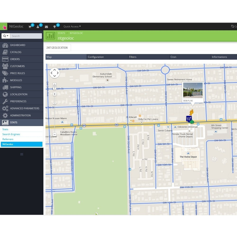 module - Internationaal & Lokalisatie - NT Geoloc, precisely locate your customers and stores - 6