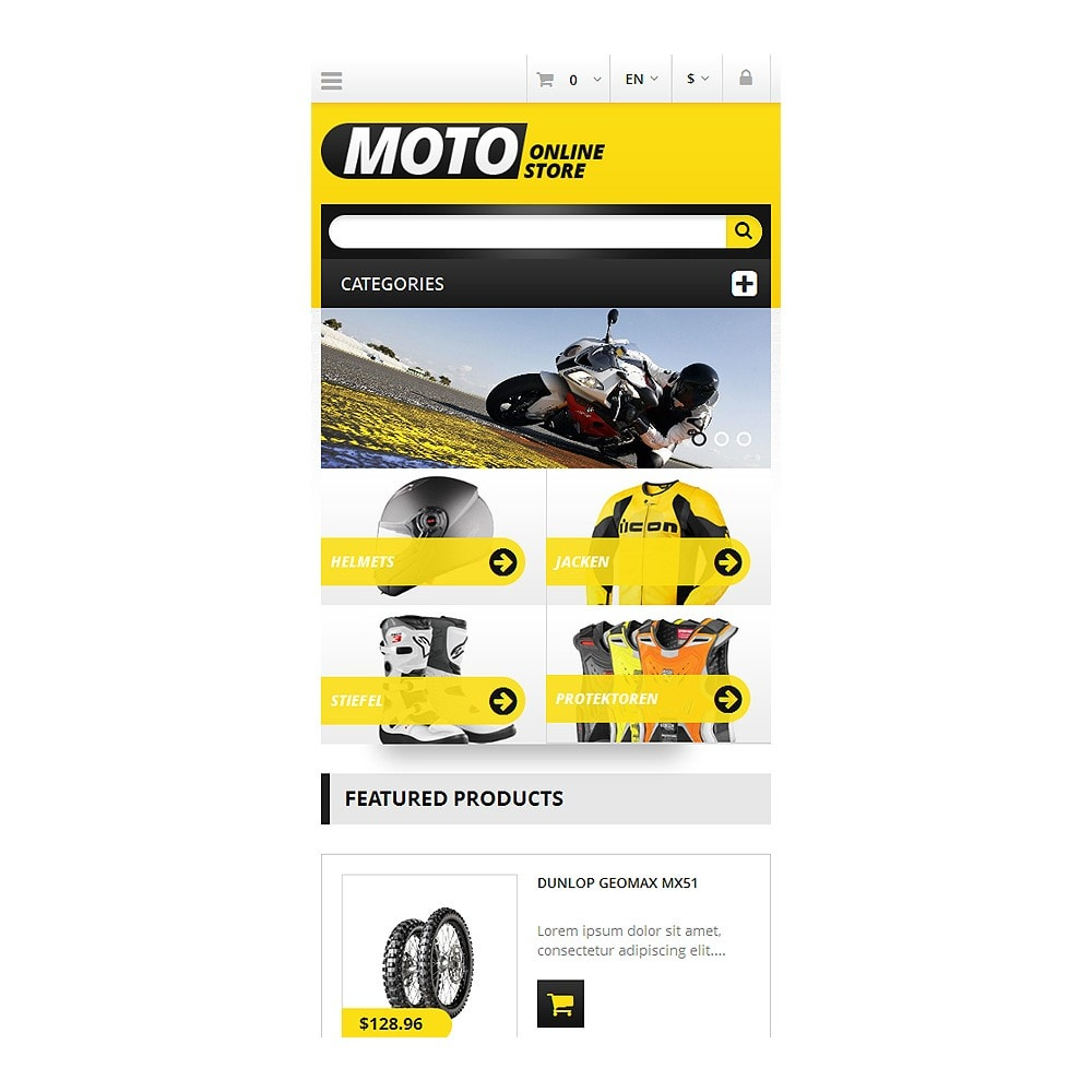 theme - Coches y Motos - Responsive Online Moto Store - 4