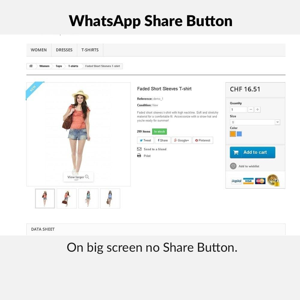 module - Boutons de Partage & Commentaires - WhatsApp Share Button - 3