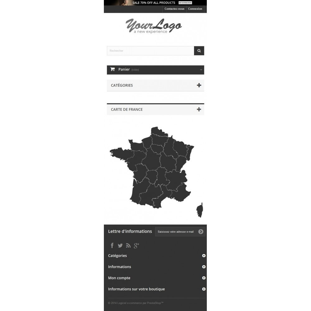 module - Lingue & Traduzioni - Interactive et responsive design map of France - 4