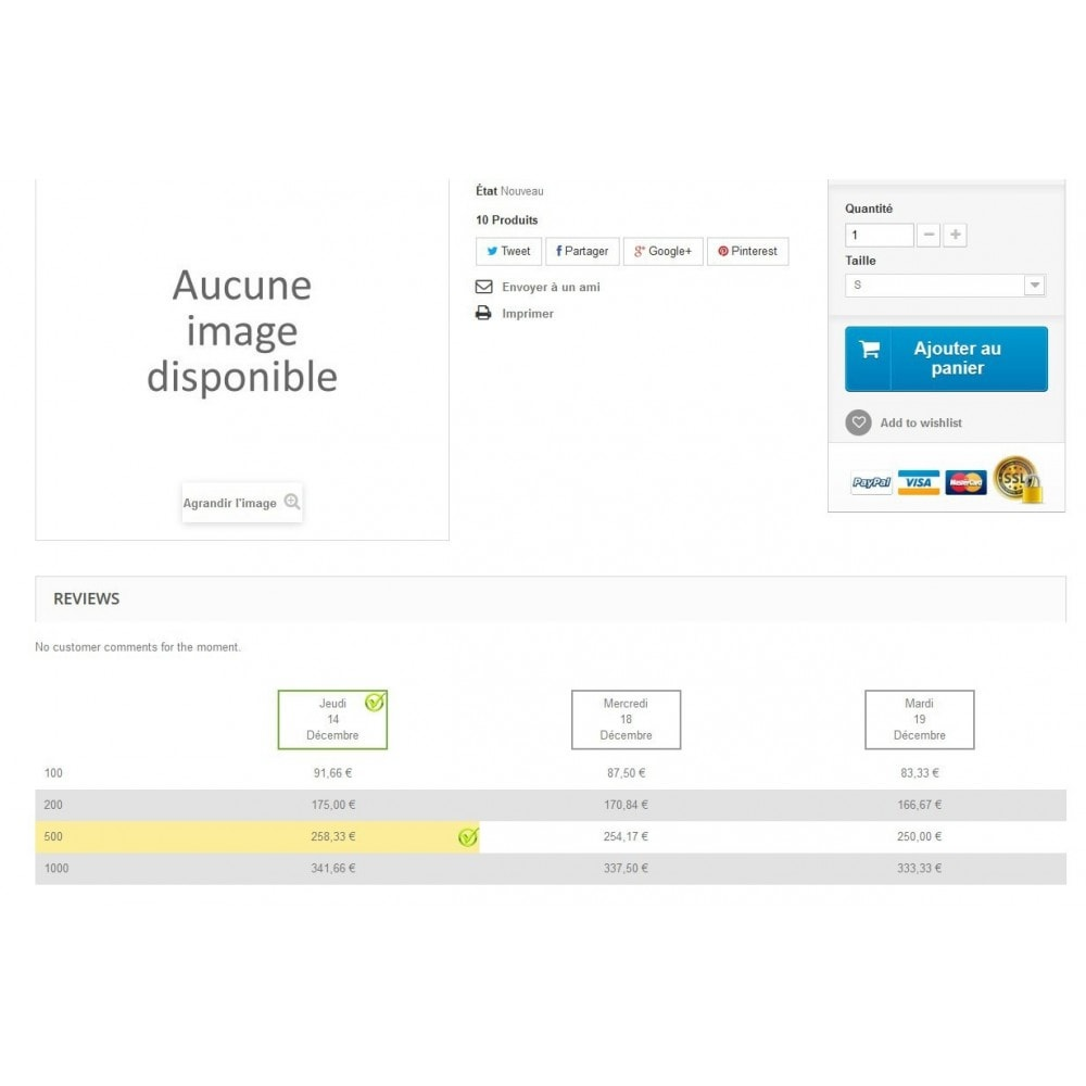 module - Déclinaisons & Personnalisation de produits - Attributs en tableau - 3