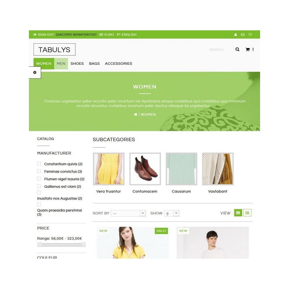 theme - Mode & Chaussures - Tabulys - 3