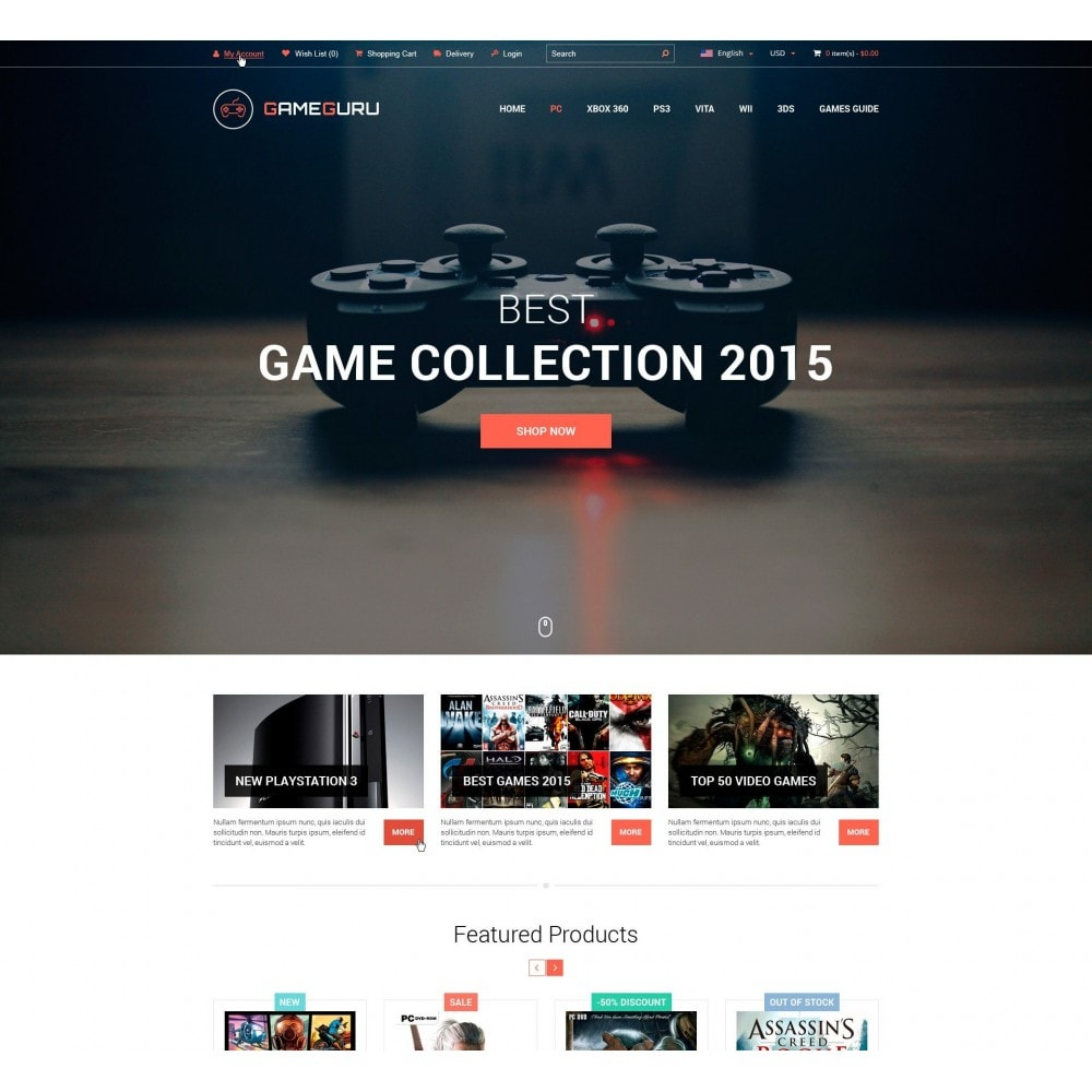 theme - Электроника и компьютеры - Gameguru - Магазин Компьютерных Игр - 1