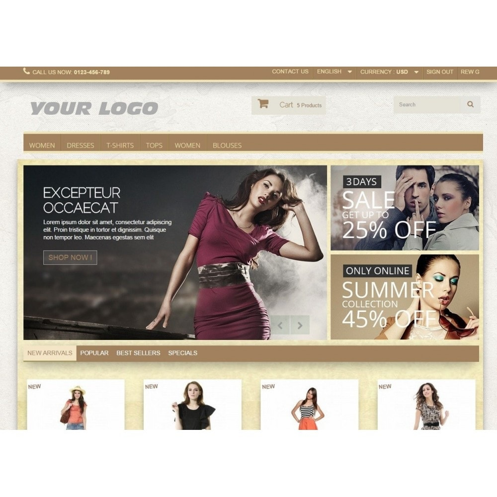 theme - Moda & Calzature - Super Neutral - Prestashop Responsive 2 - 2