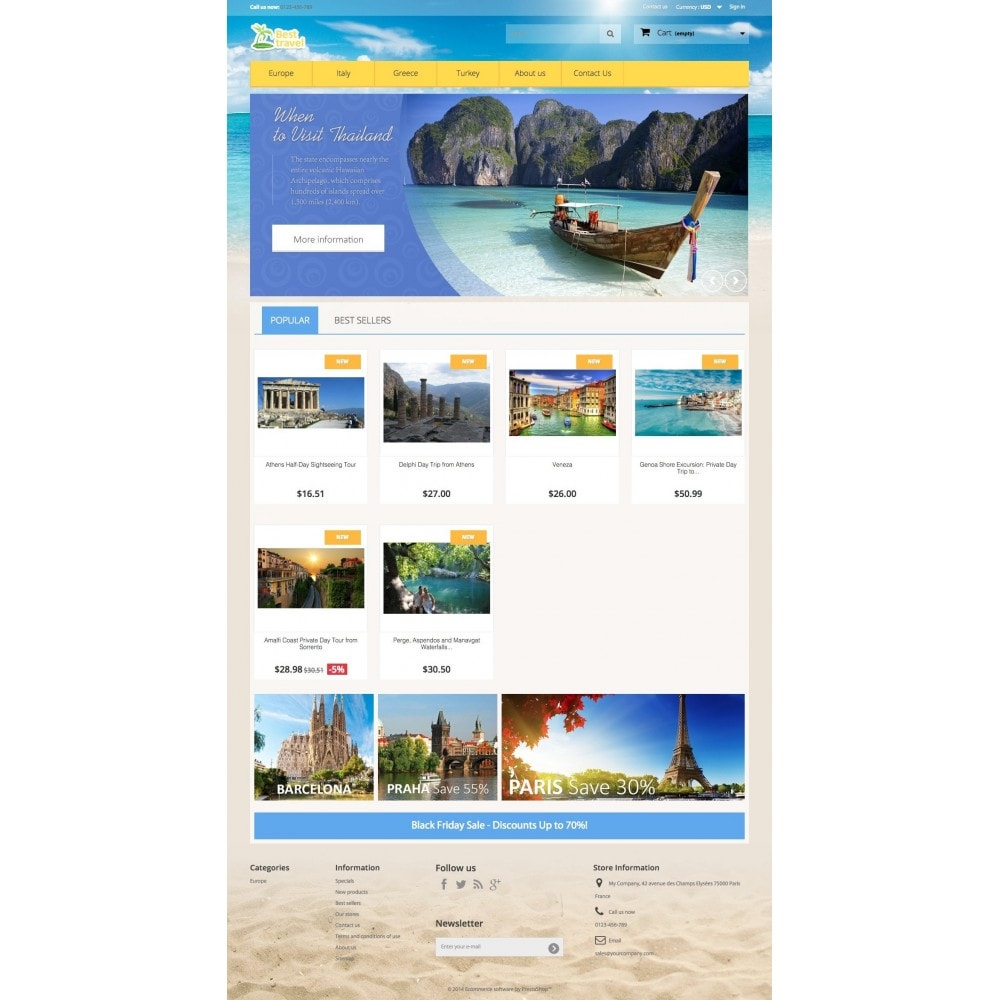 theme - Sports, Activities & Travel - Best Travel 1.6 Responsive - 2