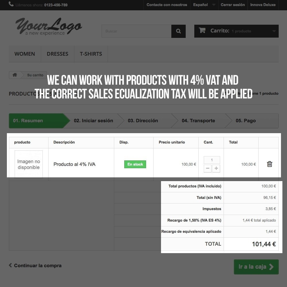 module - B2B - Applying sales equalization tax to orders and invoices - 15
