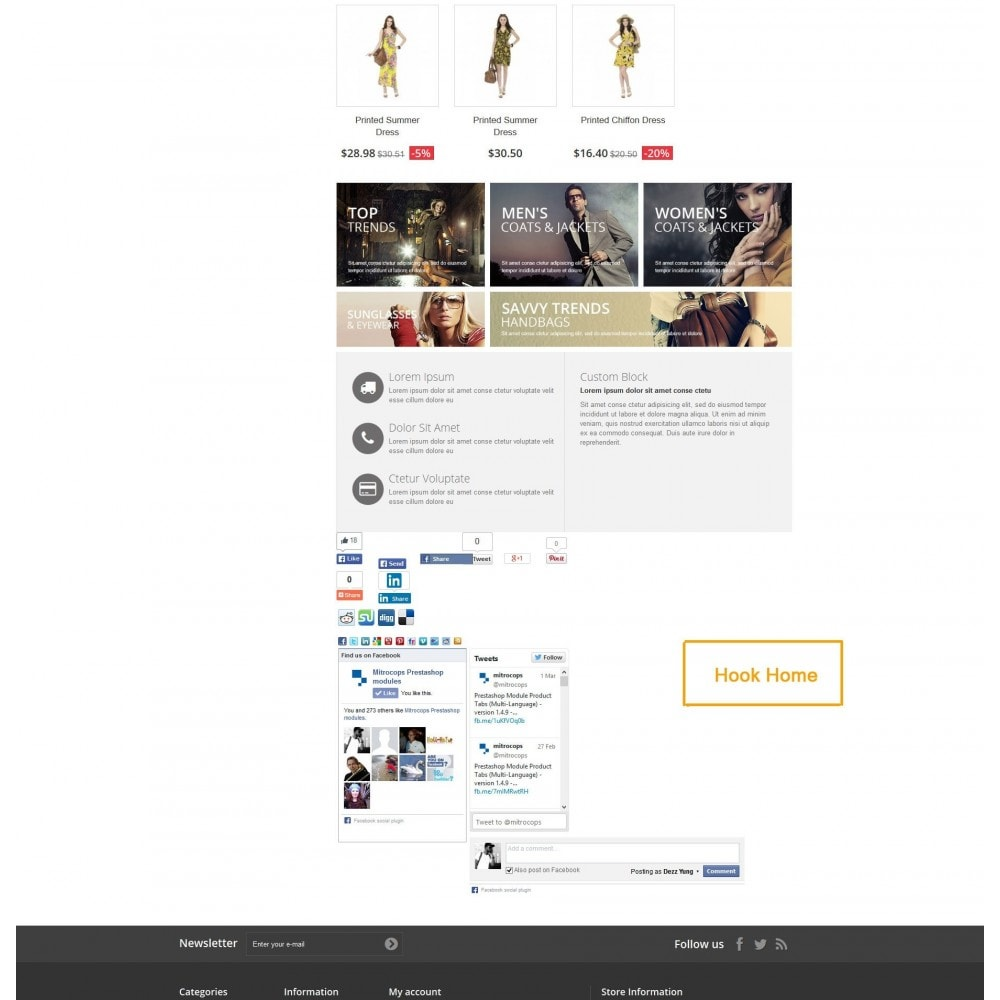 module - Deelknoppen & Commentaren - Social Constructor (Share and Follow) - 8