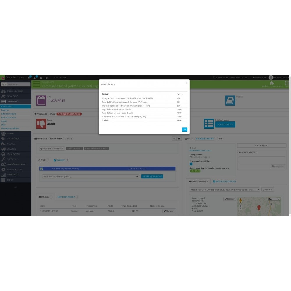 module - Sécurité & Accès - Anti-Fraude - Détection de fraudes e-commerce - 3