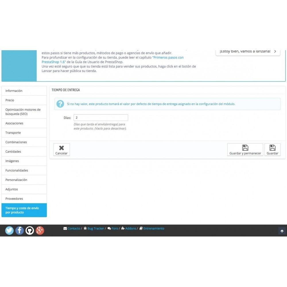module - Fecha de entrega - Tiempo y coste de envío por producto - 3