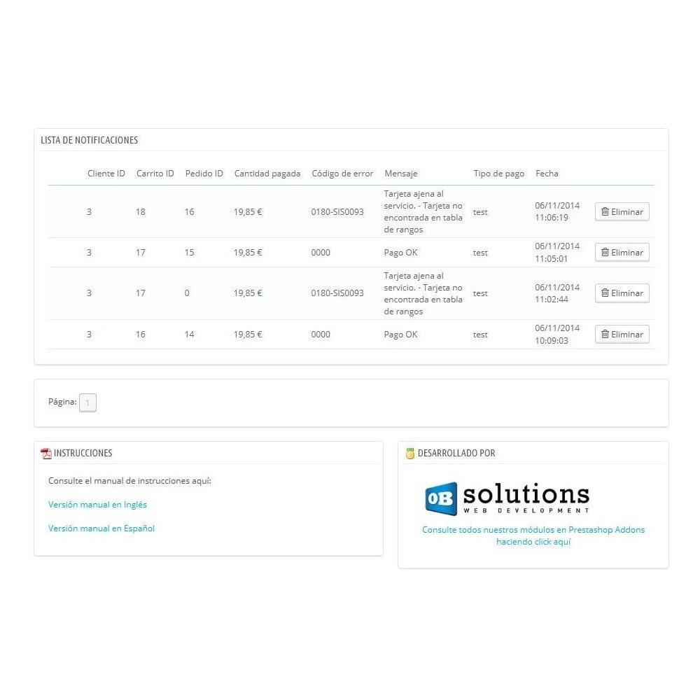module - Pago con Tarjeta o Carteras digitales - BANCO SABADELL TPV COMPLETO (Pago seguro +devoluciones) - 6
