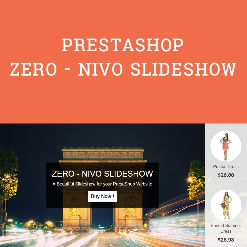 module - Sliders & Galeries - Amazing Slideshow and Products - Zero Nivo Slideshow - 1