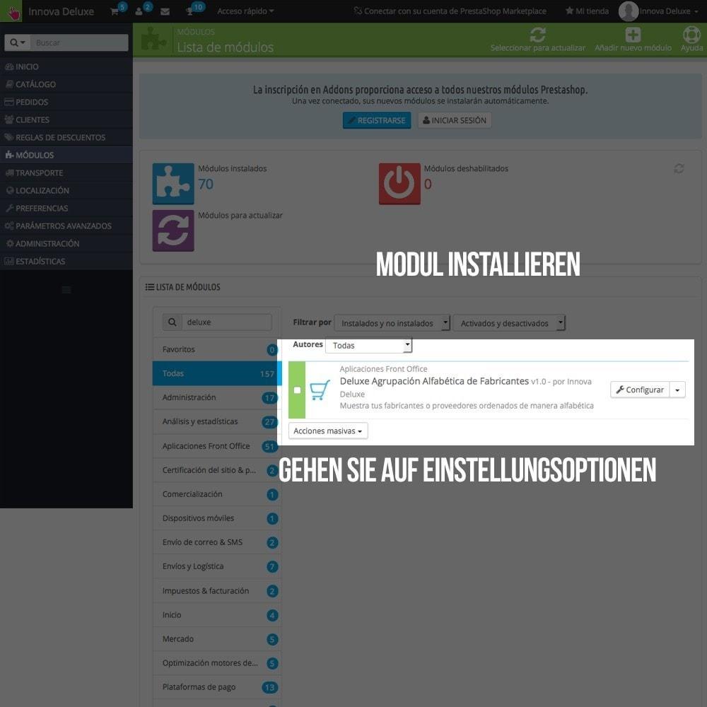 module - Suche & Filter - Alphabetische Suchmaschine für Marken oder Lieferanten - 2