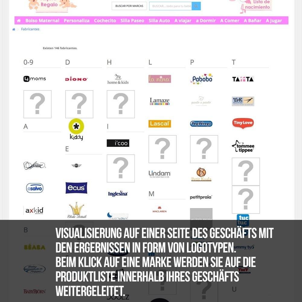 module - Suche & Filter - Alphabetische Suchmaschine für Marken oder Lieferanten - 12