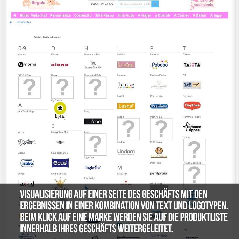 module - Suche & Filter - Alphabetische Suchmaschine für Marken oder Lieferanten - 13