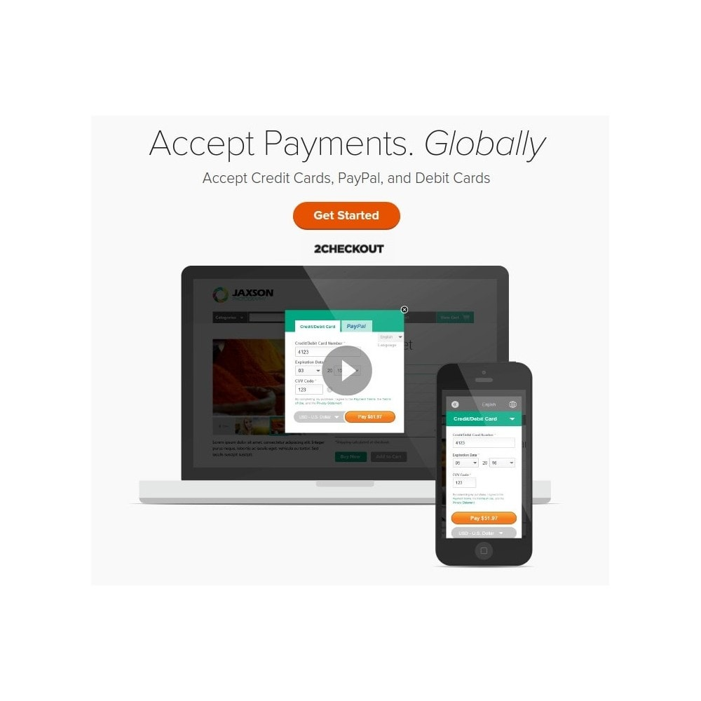 module - Creditcardbetaling of Walletbetaling - 2checkout payment gateway / PayPal & Credit Card online - 1