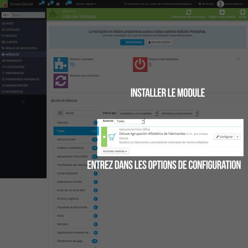 module - Recherche & Filtres - Moteur de recherche alphabétique de marques (fabricant) - 2