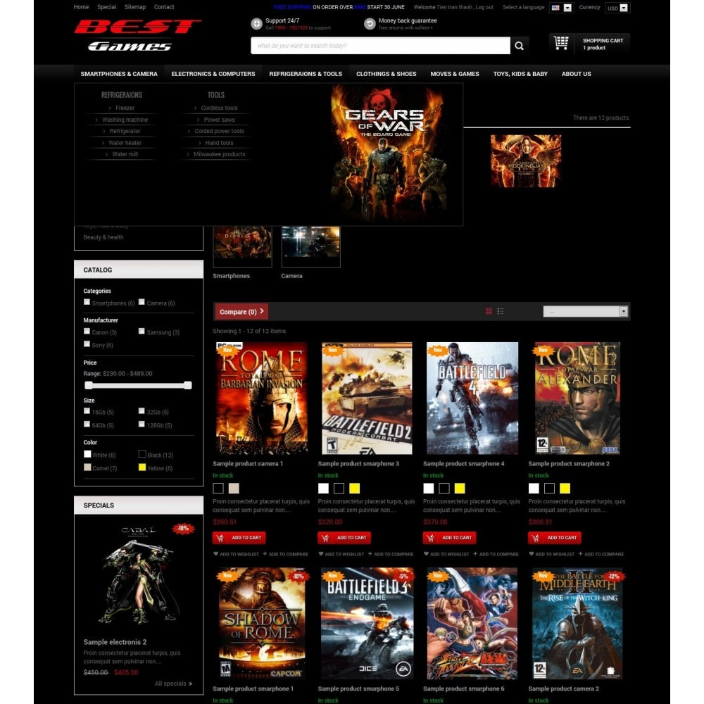 theme - Electronics & Computers - Responsive Best Games Prestashop Theme - 2