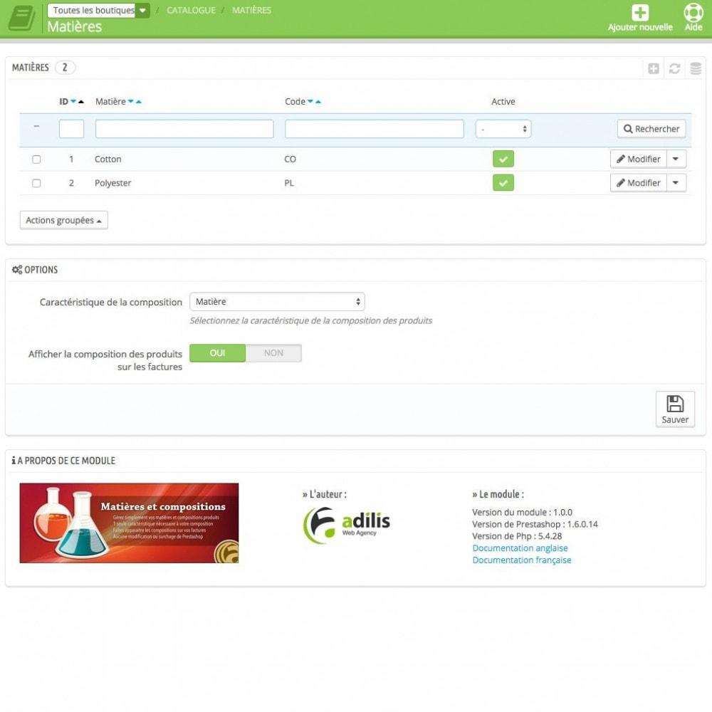 module - Déclinaisons & Personnalisation de produits - Compositions et matières - 3