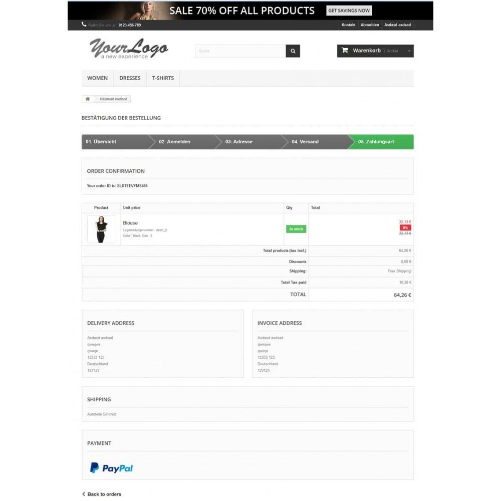 module - Zahlung per Kreditkarte oder Wallet - PayPal Plus - Rechnung, Lastschrift, Kreditkarte - 6