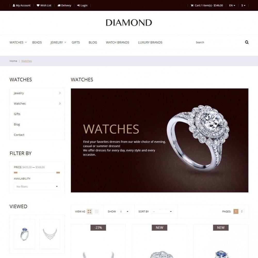 theme - Ювелирные изделия и Аксессуары - Diamond - Ювелирный Магазин - 3