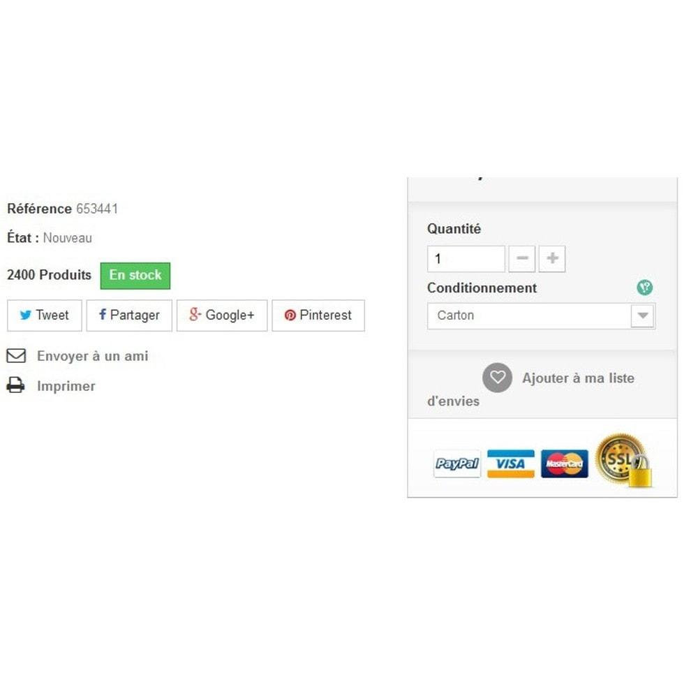module - Information supplémentaire & Onglet produit - Explications d'attributs - 3