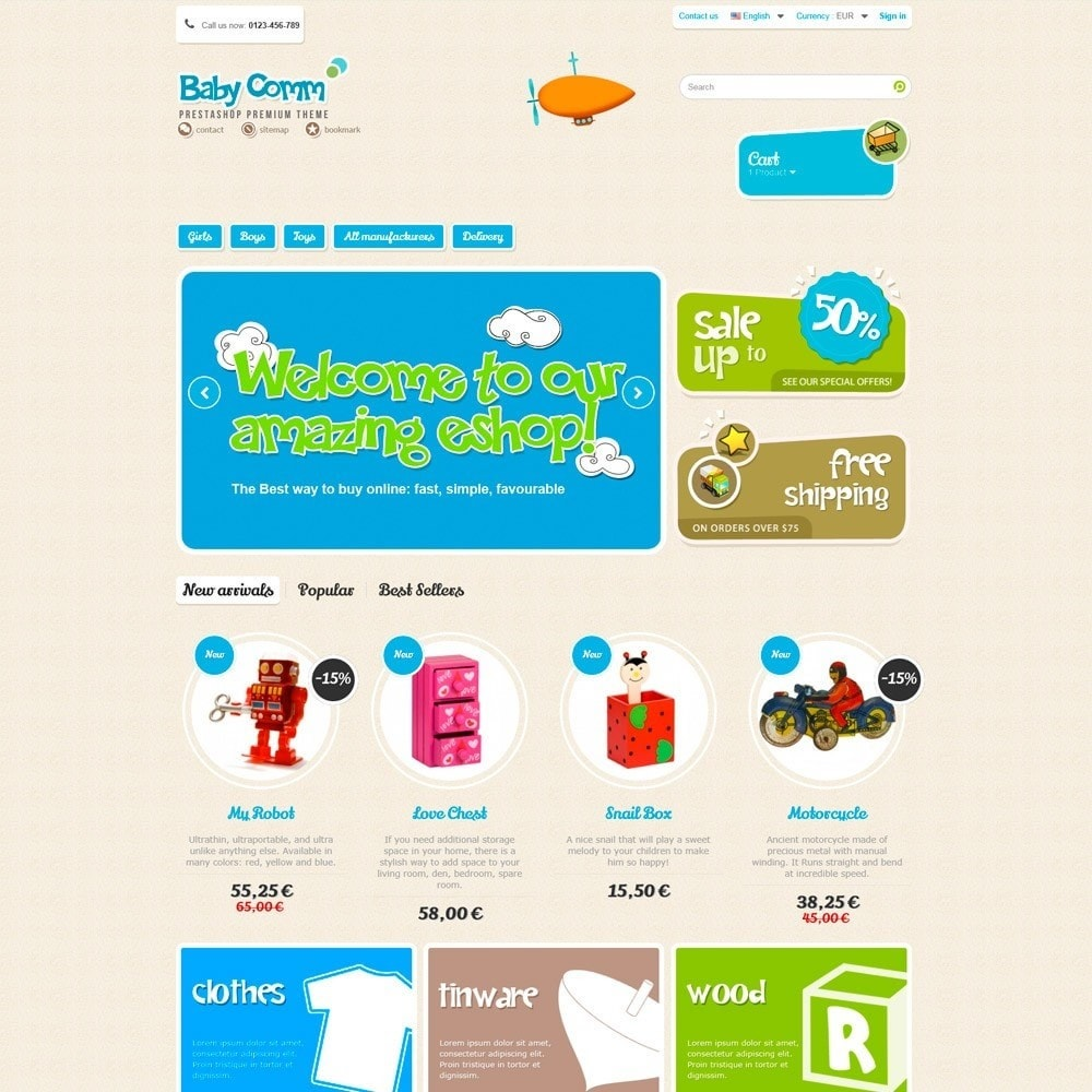 theme - Kinderen & Speelgoed - Baby Comm Responsive - 2