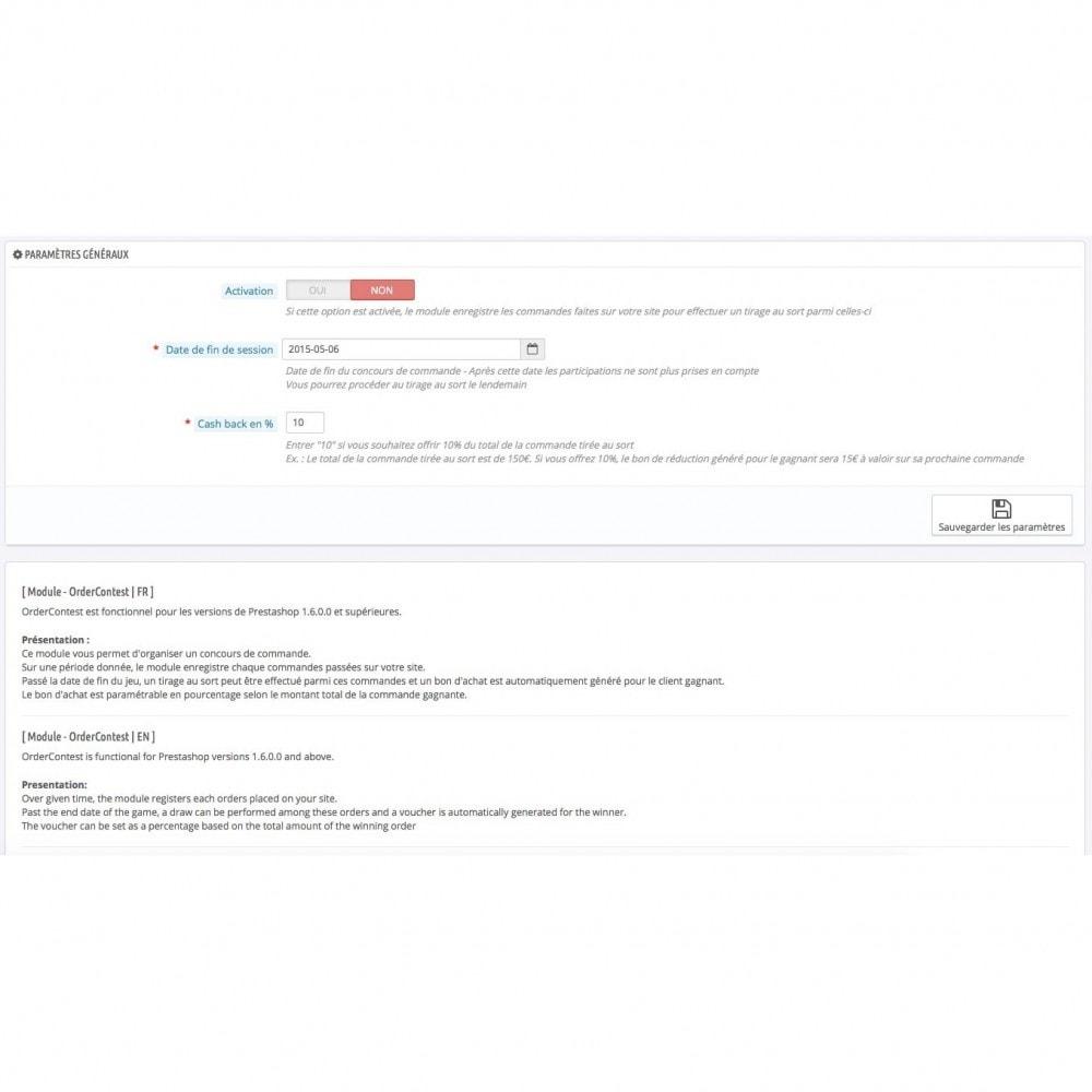 module - Jeux-concours - Concours de commandes / OrderContest - 6